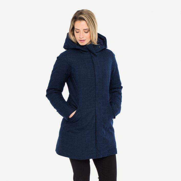 Women's Staz Wool Coat (fur option)