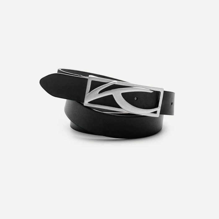 Unisex Classic Leather Belt Narrow