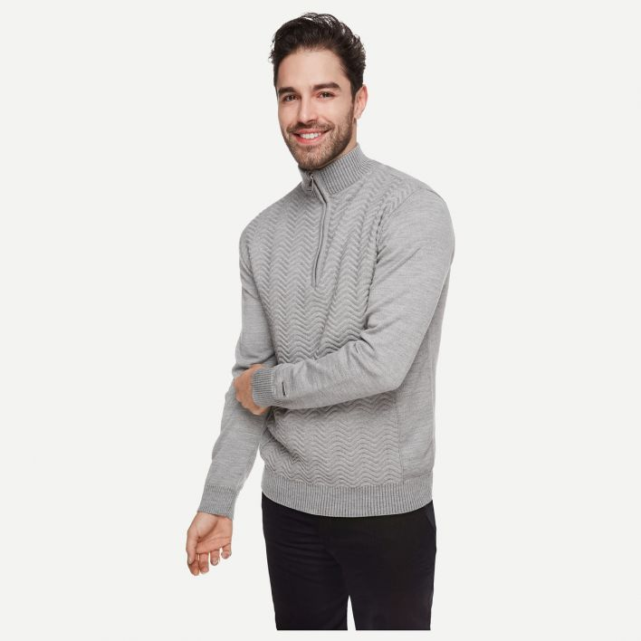 Men Linard Knit Midlayer Halfzip