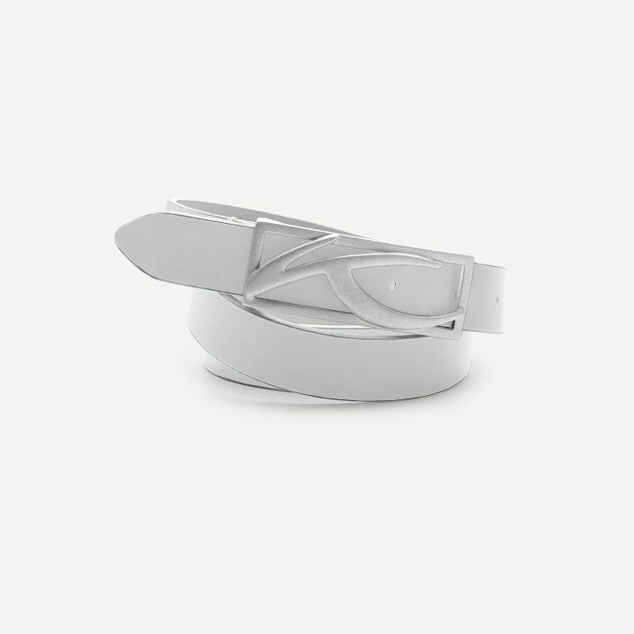 Unisex Classic Leather Belt Narrow