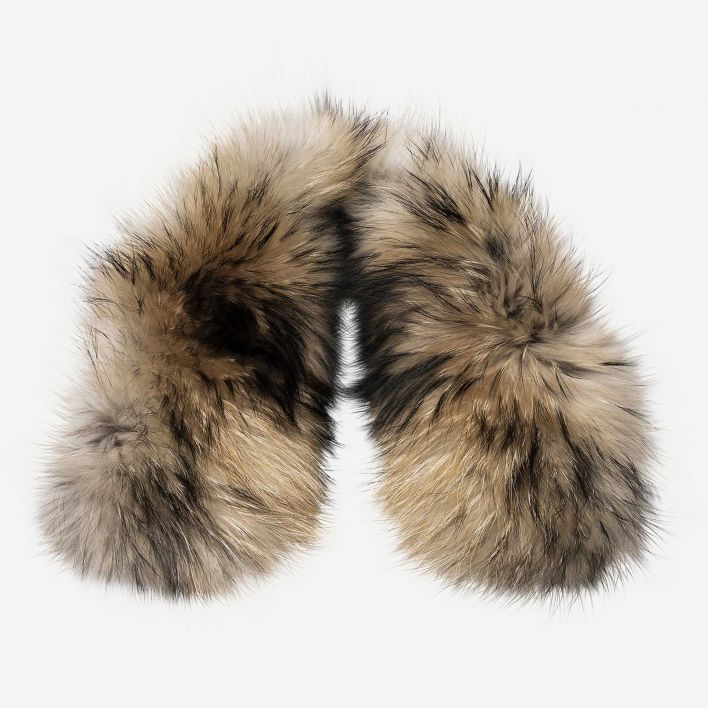 Women's LS Hood Real Fur Staz